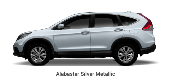 Test Drive CR-V Alabaster Silver car